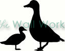 Mommy and Baby Duck vinyl decal