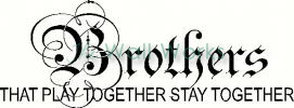 Brothers - Play Together vinyl decal