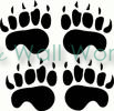 Brown Bear Tracks vinyl decal