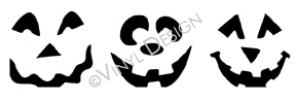 Jackolantern Faces vinyl decal