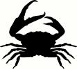 Crab vinyl decal