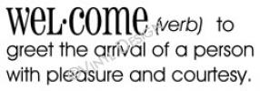 definition of welcome