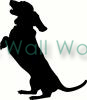 Dog Standing vinyl decal