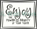 Power and Beauty of Youth vinyl decal