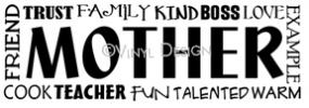 Mother-Mother - Trust, Family, Kind, Boss, Love vinyl decal