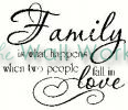 Family - When Two People Fall In Love(2) vinyl decal