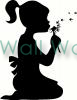 Girl with Flower vinyl decal