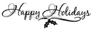 happy holidays vinyl decal