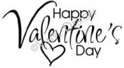 Happy Valentine's Day vinyl decal