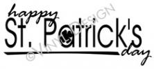 Happy St. Patricks Day (2) vinyl decal