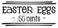 Easter Eggs - 50 Cents vinyl decal