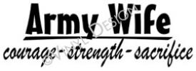 Army Wife vinyl decal