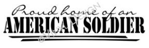 Proud Home of Soldier vinyl decal