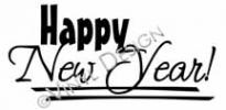 Happy New Year (5) vinyl decal