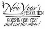 New Year Resolution vinyl decal