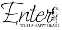 Enter With A Happy Heart vinyl decal