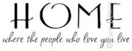 Home-Where the People that Love You Live vinyl decal