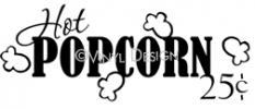 Hot Popcorn vinyl decal