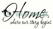 home - where our story begins vinyl decal
