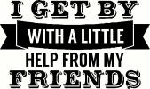 I Get By vinyl decal