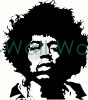 Jimi Hendrix vinyl decal