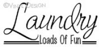 The Laundry Room-Loads  of  Fun (4) vinyl decal