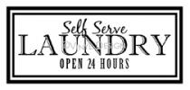 Self Serve Laundry vinyl decal