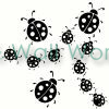 Lady Bugs vinyl decal
