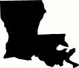 Louisiana vinyl decal