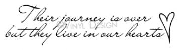 their journey is over vinyl decal