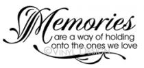memories  vinyl decal