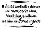 if tears could build a stairway vinyl decal