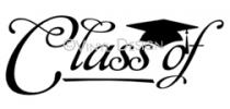 Class Of....(2) vinyl decal