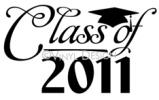 Class of 2011 (2) vinyl decal