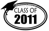 Class of 2011 (1) vinyl decal