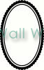 Oval Frame (3) vinyl decal