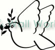 peace dove vinyl decal