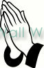 Praying Hands vinyl decal