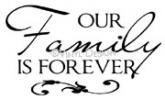 our family is forever vinyl decal