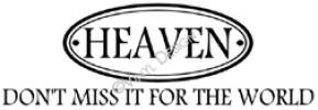 heaven vinyl decal