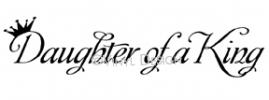 Daughter of a King vinyl decal