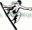 Snowboarder (1) vinyl decal