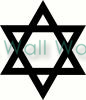 Star of David vinyl decal
