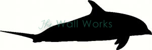 Dolphin 1 vinyl decal