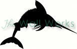 Marlin Silhouette vinyl decal