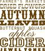 autumn art vinyl decal