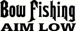 Bow Fishing vinyl decal