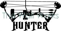 Compound Bow Hunter vinyl decal