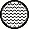 Chevron Circle vinyl decal