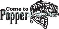 Come to Popper - Bass vinyl decal